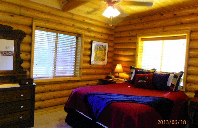 Rental bedroom at Resort Properties of Angel Fire.