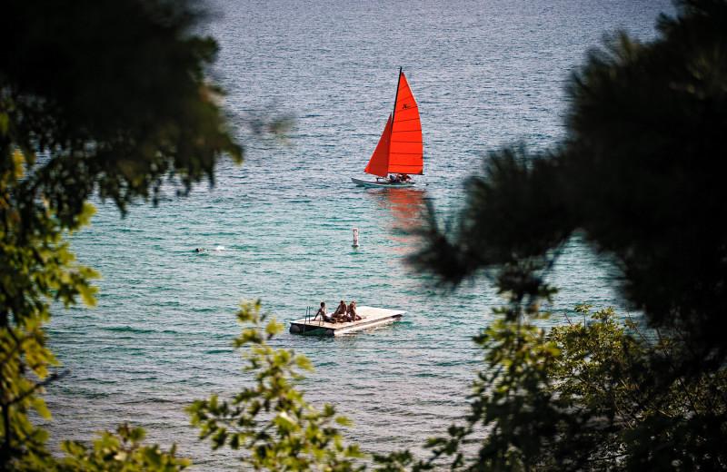Sailing at Chimney Corners Resort.