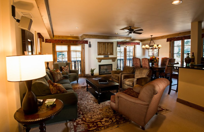 Guest suite at Vail Mountain Lodge & Spa.