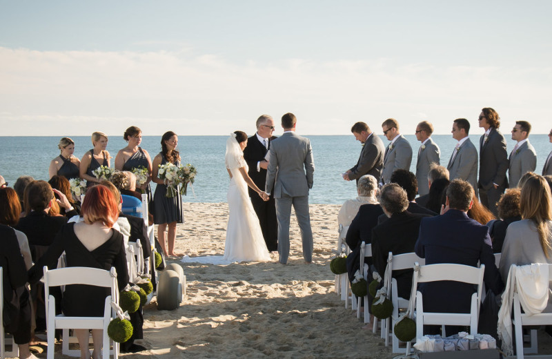 Beach wedding at Winnetu Oceanside Resort.