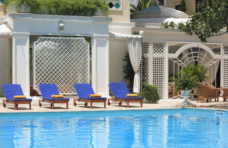 Outdoor pool at Royal Olympic Hotel.