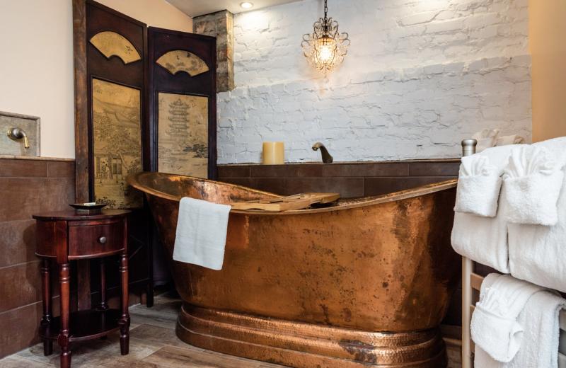 Bathroom at Tybee Island Inn.