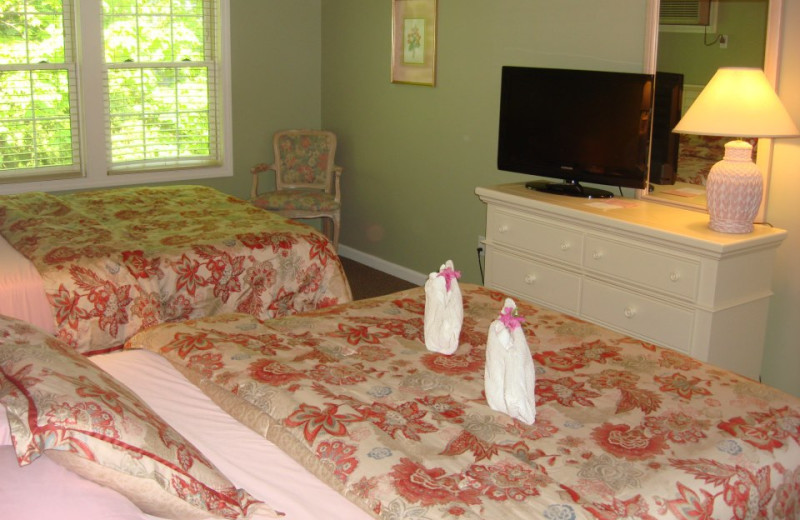 Guest room at Pink Blossoms Resort.