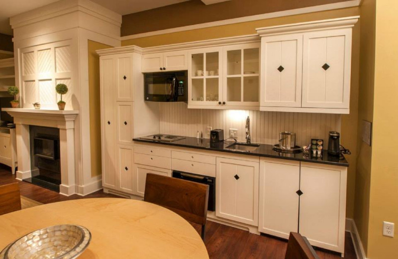 Guest kitchenette at Inn at Diamond Cove.