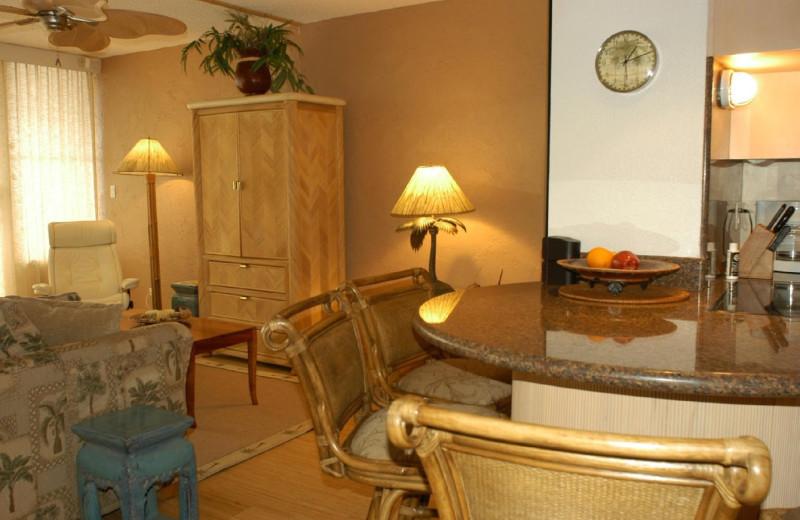 Vacation rental interior at Island Sands Resort.