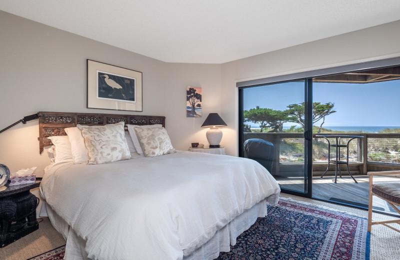Rental bedroom at Pajaro Dunes Resort.