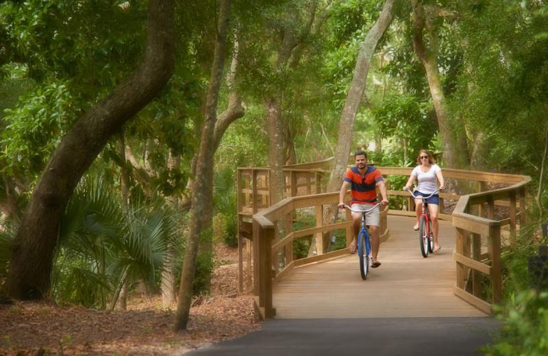 Bike riding at Omni Amelia Island Plantation.
