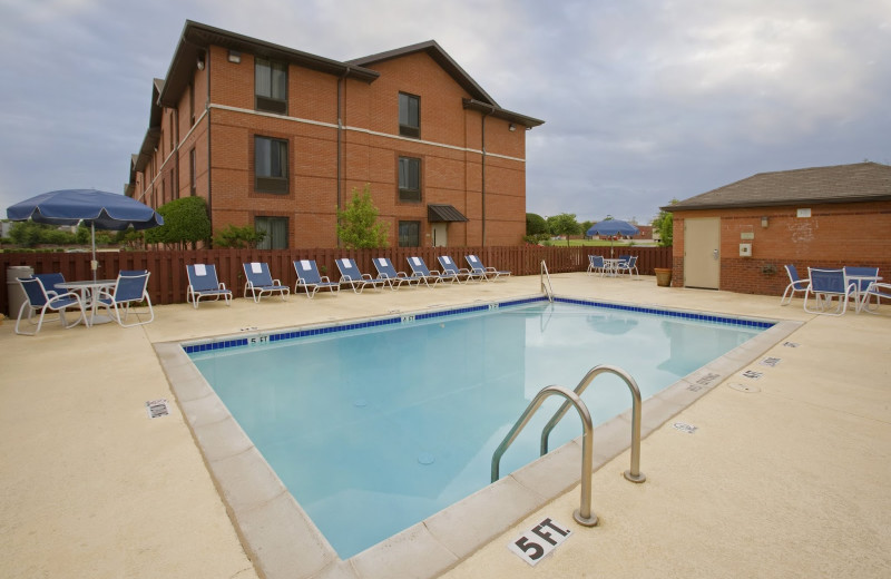 Outdoor pool at Extended Stay Deluxe San Antonio - Colonnade.