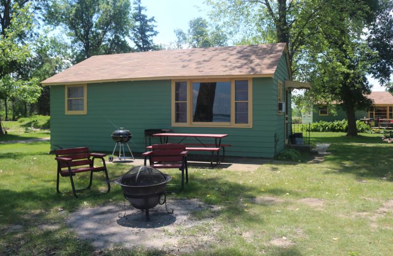 Cabin exterior at Four Seasons Resort.