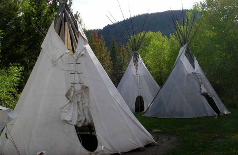 Tepee at Vee-Bar Guest Ranch.