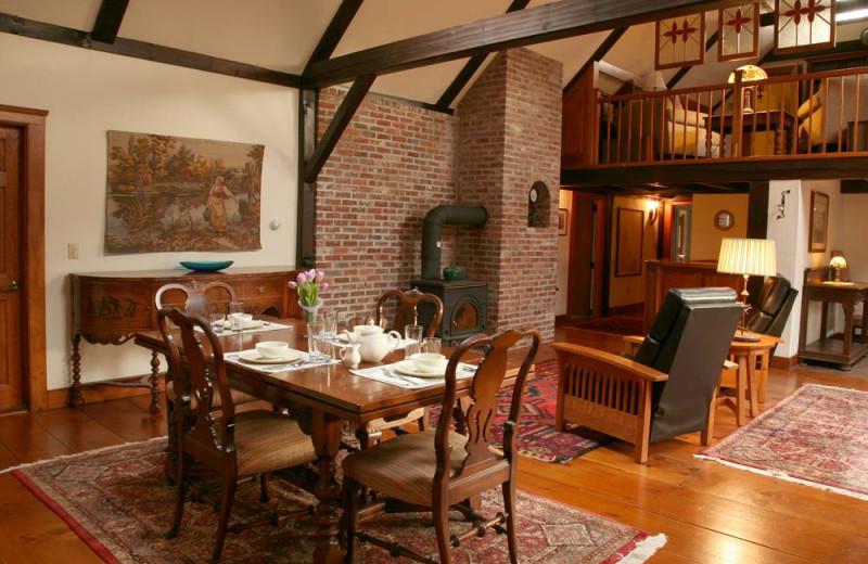 Dining room at Morning Glory Inn.