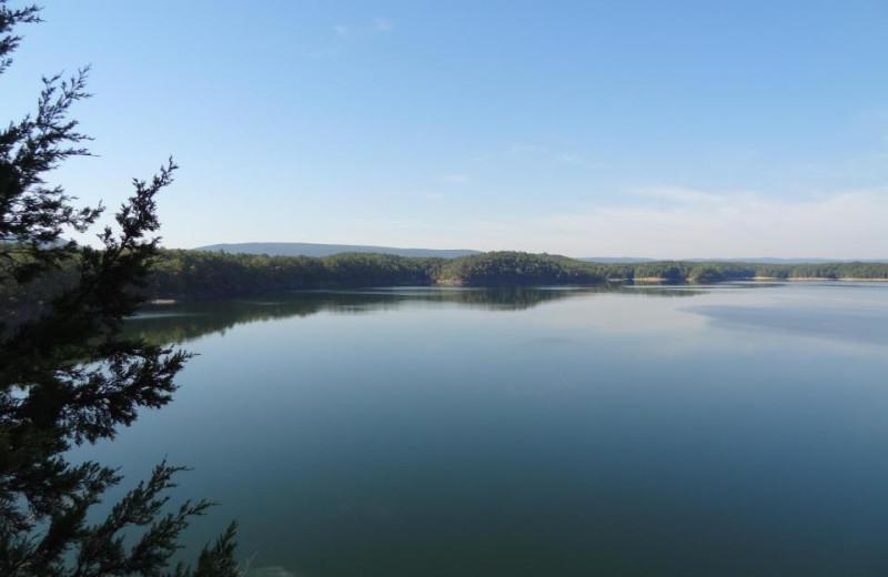 Lake Ouachita at Mountain Harbor Resort.