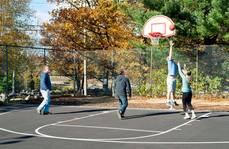 Basketball court at Steele Hill Resorts.
