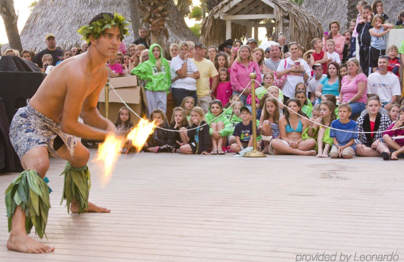 Fire show at Holiday Inn Resort Panama City Beach.
