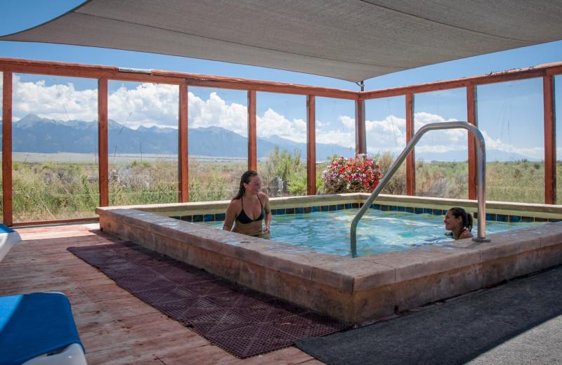 Hot tub at Joyful Journey Hot Springs Spa.