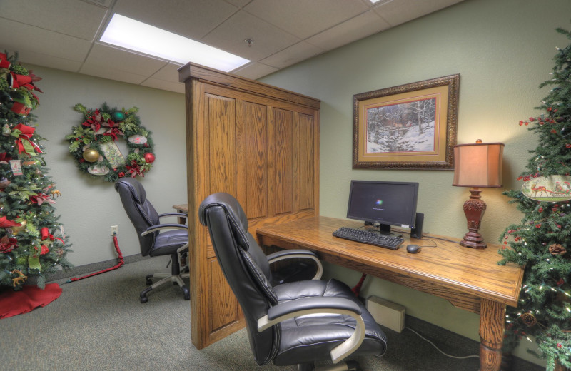Business center at The Inn at Christmas Place.