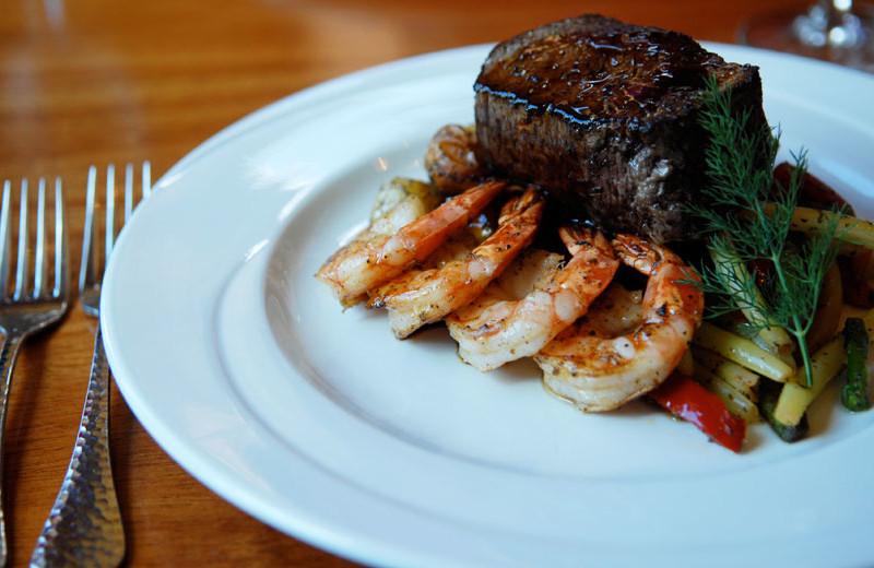 Surf and Turf at House Mountain Inn.