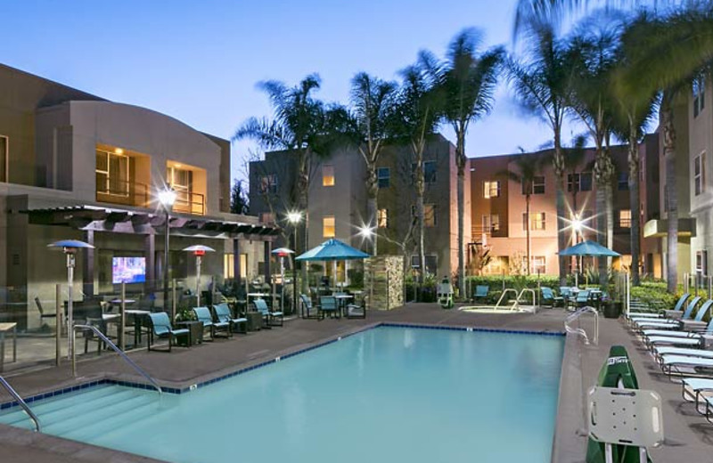 Outdoor pool at Residence Inn San Diego Carlsbad.