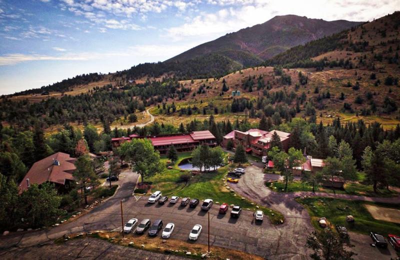 Aerial view of Rock Creek Resort.