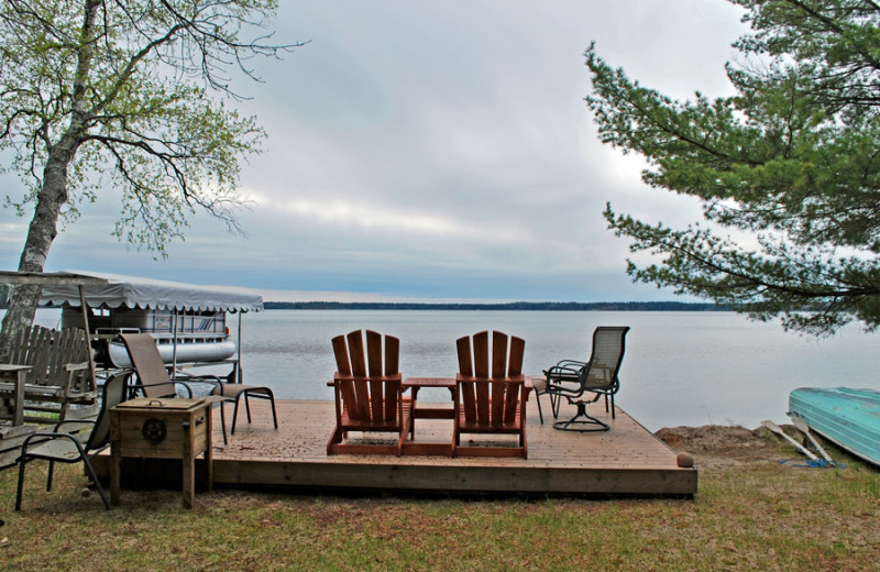Lake view at Harv's Vacation Rentals.