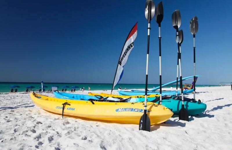 Beach kayaking at Seascape Resort.