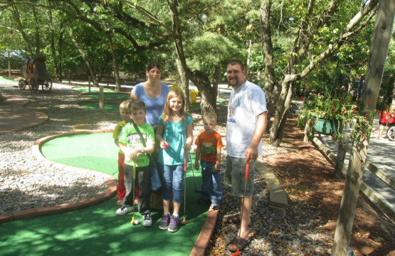 Mini-golf at Smokey Hollow Campground