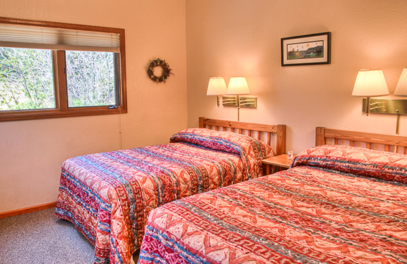 Double bedroom at McGregor Mountain Lodge.