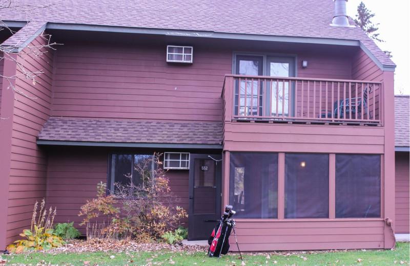 Condo exterior at Ruttger's Bay Lake Lodge.