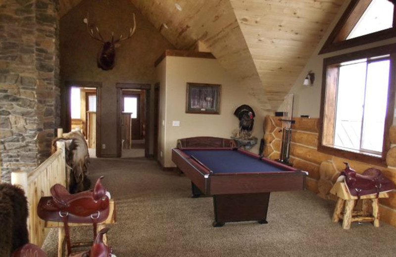 Pool table view at Rocky Mountain Elk Ranch.