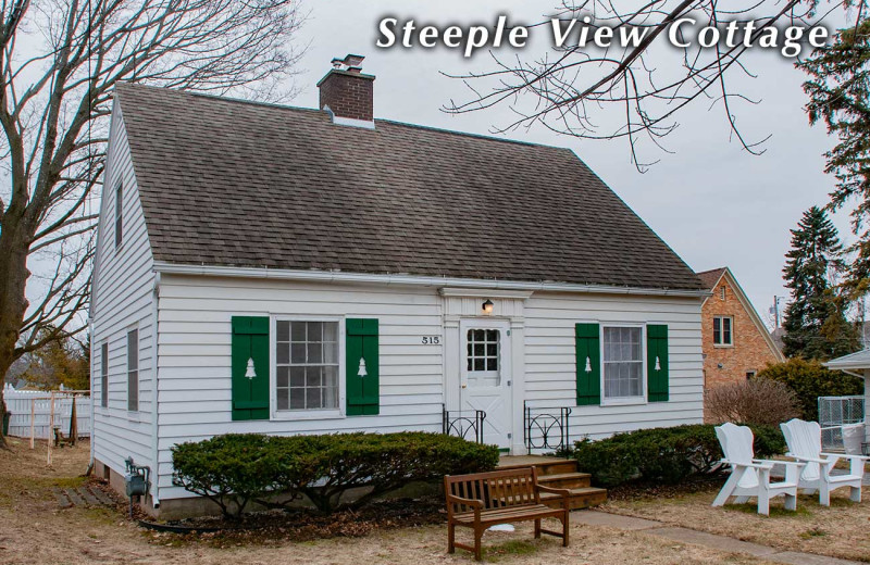 Steeple View Cottage exterior at White Lace Inn.