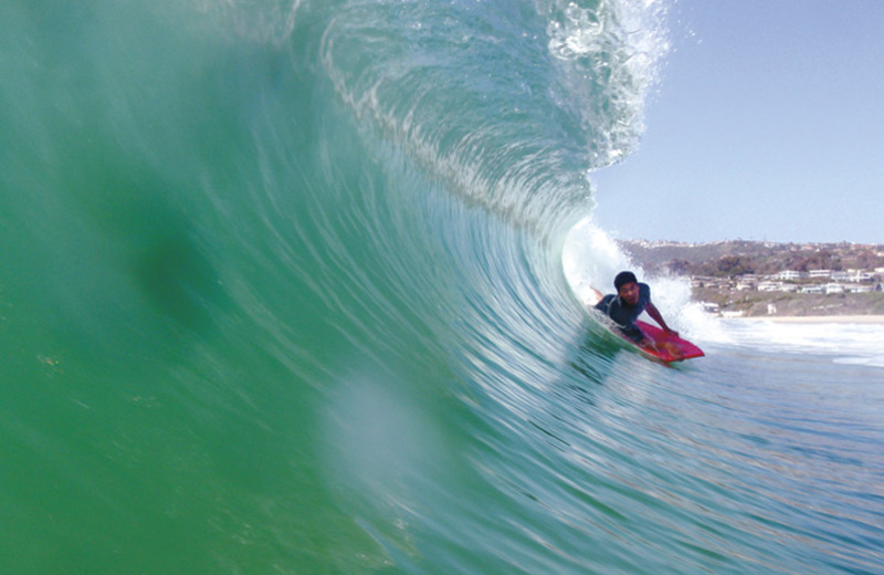 Surfing at The Ritz-Carlton, Laguna Niguel.