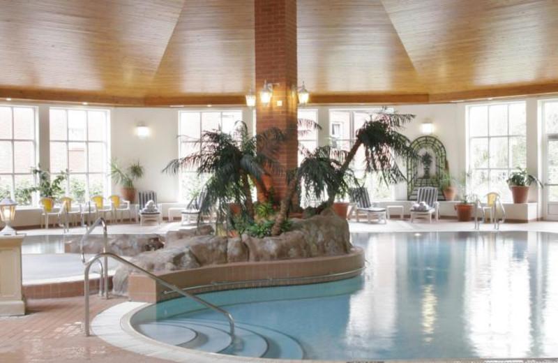Indoor pool at Swallow Belstead Brook Hotel.