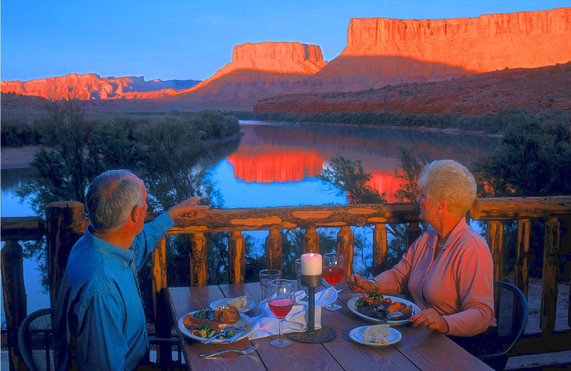 Couple at Red Cliffs Lodge.