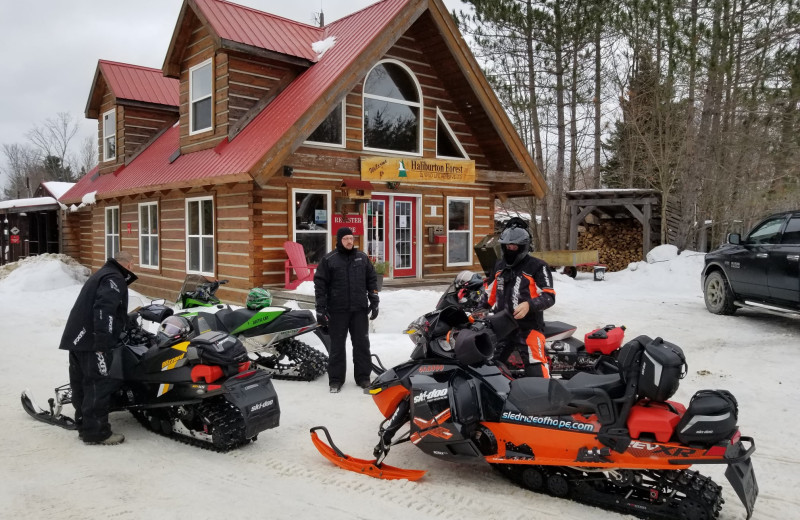 Snowmobiling at Sir Sam's Inn & Spa.