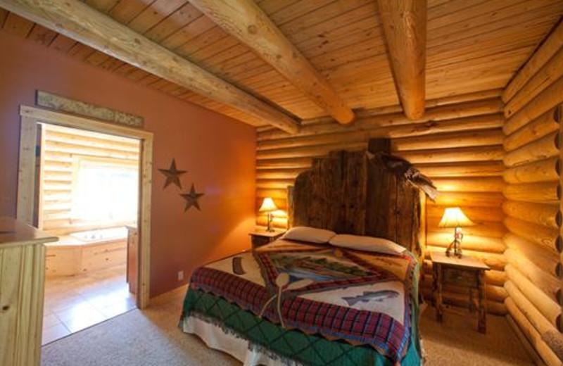 Guest bedroom at Ponds Lodge.