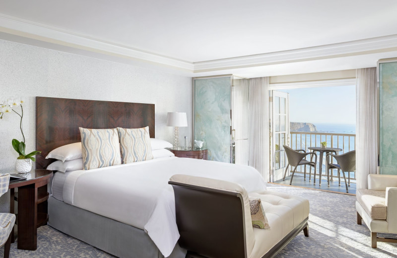 Guest bedroom at The Ritz-Carlton, Laguna Niguel.