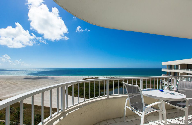 Rental balcony at Marco Escapes.