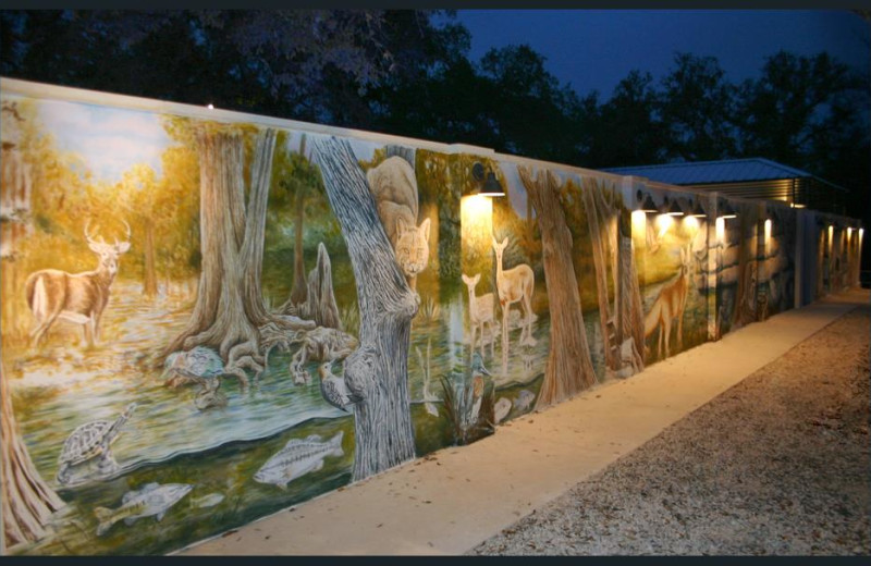 View of mural at Hotel Flora & Fauna.