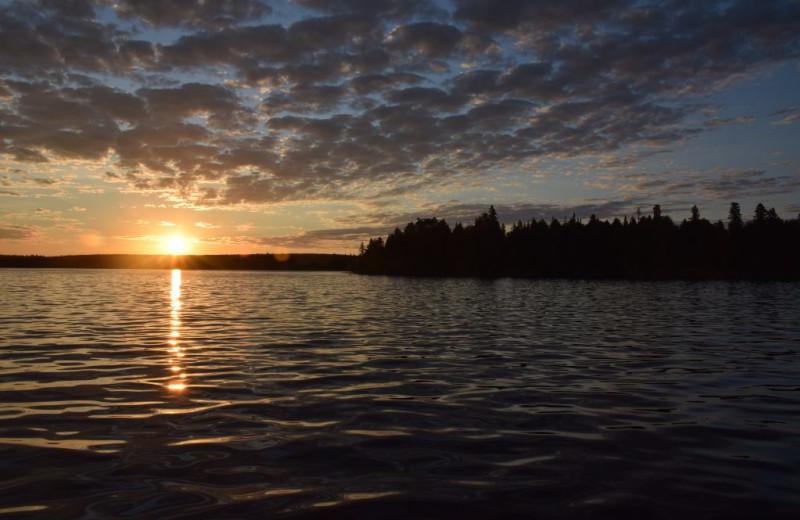 Sunset at Rainbow Point Lodge.