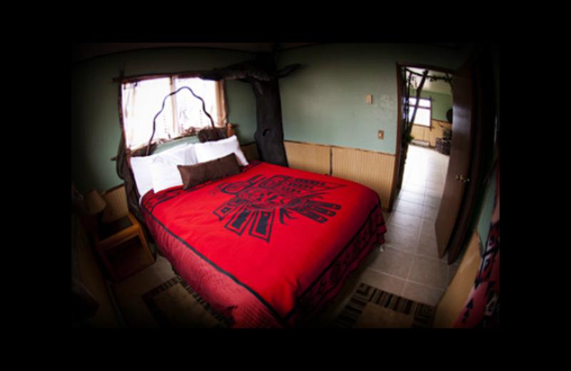 Cabin bedroom at Quileute Oceanside Resort.
