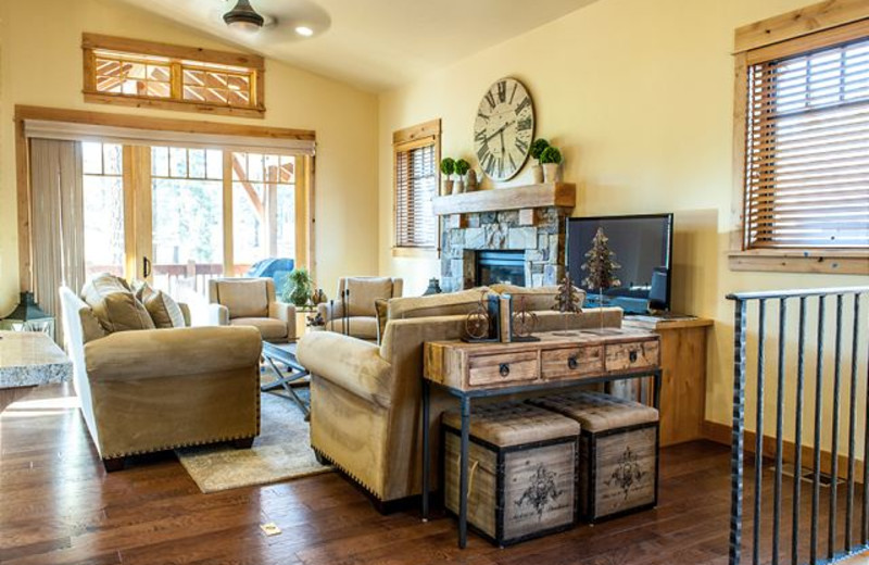 Living Room at Tahoe Signature Properties