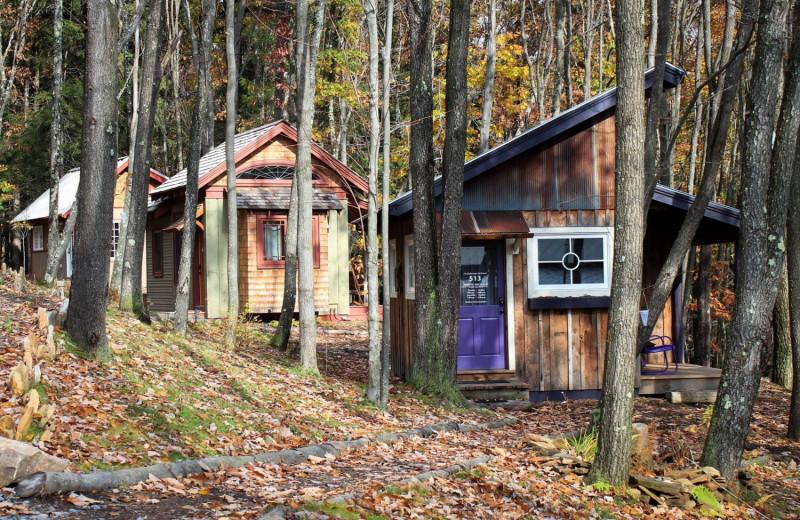 Tiny houses at Blue Moon Rising.