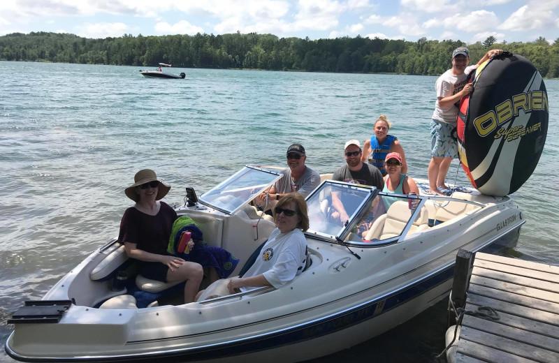 Boating at Moore Springs Resort.