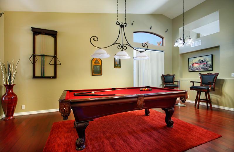 Rental billiard table at Arizona Vacation Rentals.