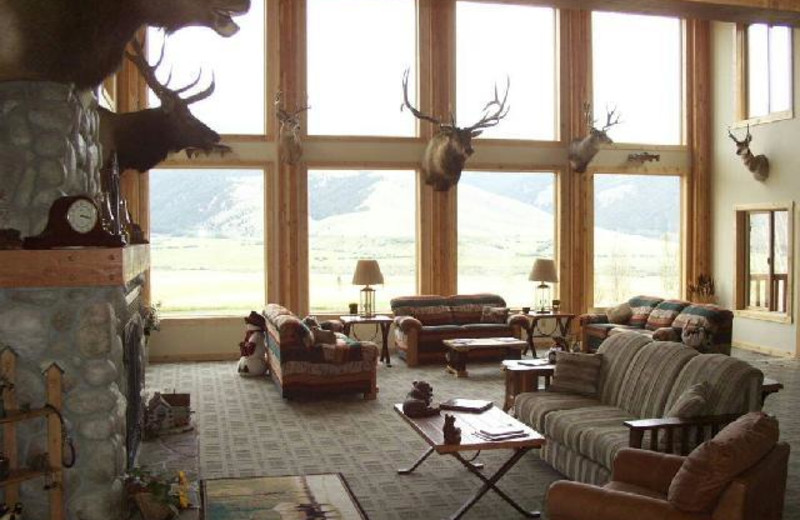 Lobby area at Montana High Country Lodge.