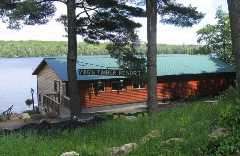 Cabin exterior at Virgin Timber Resort.