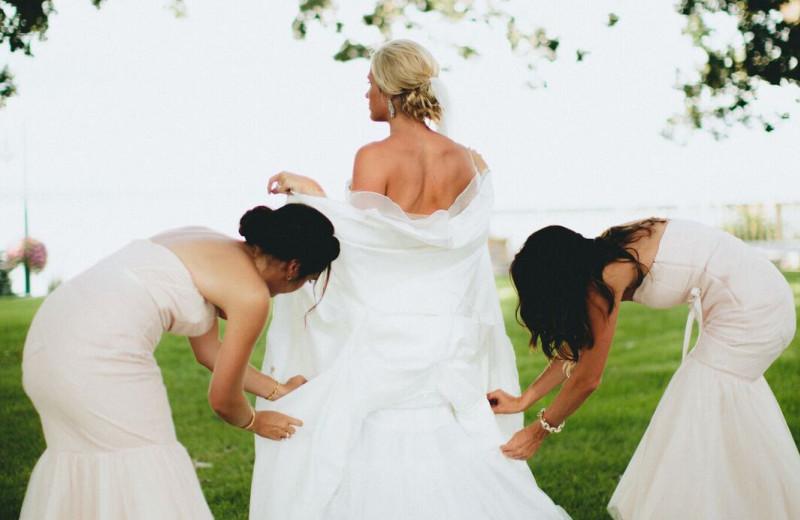 Wedding at Spicer Green Lake Resort.