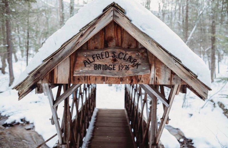 Covered bridge at Winter Clove Inn.