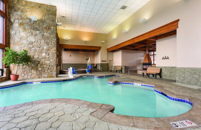 Indoor pool at Grand Timber Lodge.
