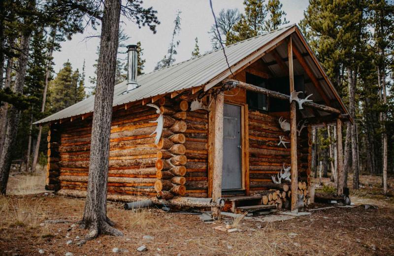 Cabin exterior at Big Creek Lodge.